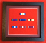 Quality Black Wood Medal Ribbon Bar Frame Choose Your Own 7 x Medal Ribbon Bars.