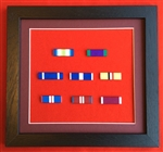 Quality Black Wood Medal Ribbon Bar Frame Choose Your Own 8 x Medal Ribbon Bars.