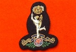 Officers Royal Signals Wire Beret Badge