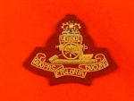 Maroon Royal Artillery Airborne PARA Officers Beret Badge ( Hand Embroidered Beret Badge )