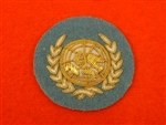 Officers United Nations Hand Embroidered Bullion Wire Beret Badge ( UN Beret Badge )