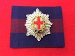 Coldstream Guards Officers Bullion Wire Beret Badge + Guards Patch.