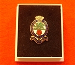 Quality Princess of Wales Royal Regiment Boxed Infantry Enamel Laple Badge ( PWRR Lapel Badge )