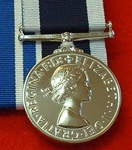 Full Size Navy Long Service and Good Conduct Medal ER II