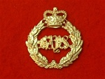Queens Bays 2nd Dragoon Metal Cap Badge Queens Crown