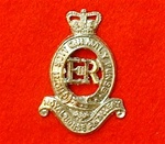 Royal Horse Artillery Cap Badge ( RHG ER 11 metal Cap Badge )