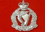 The Royal Irish Regiment Metal Cap Badge ER 11