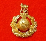 Royal Marines Cap Badge Queen`s Crown