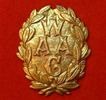 Women`s Army Auxiliary Corps Solid Metal Cap Badge