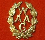 Women`s Army Auxiliary Corps Metal Cap Badge