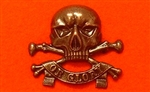 Black Queens Royal Lancers Metal Beret Badge ( QRL Beret Badge )