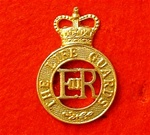 The Life Guards Metal Cap Badge ( LG Hat Badge ER 11 )