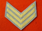 Mess Dress Sergeants Chevrons ( SGT Stripes Gold on Grey )