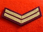 Mess Dress Corporal Chevrons Gold on Maroon)