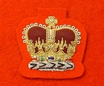 Warrant Officer Class 2 Mess Dress Badge Gold on Red ( WO2 Mess Dress Badge Red )