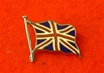 Union Jack Flag Lapel Badge