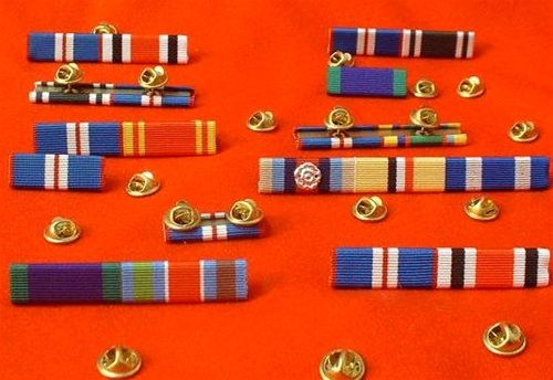 how to put medals on a ribbon bar