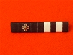 The Order of St John + Silver Maltese Cross Emblem St Johns Ambulance Service Ribbon Bar Pin Type