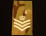 Quality Ivory /SSGT Muticam Rank Slide ( Staff Sergeant Multi Terrain Pattern Combat Rank Slide ) C/SGT MTP Rank Slide