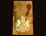 Quality Ivory WO1 Muticam Rank Slide ( Warrant Officer Class 1 Multi Terrain Pattern Combat Rank Slide ) WO2 MTP Rank Slide