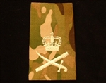 Quality Ivory Lieutenant General Muticam Rank Slide ( lt gen Multi Terrain Pattern