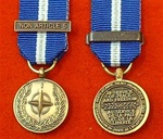 NATO Non Article 5 Bosnia Miniature Medal