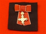 Civilian MBE Hallmarked Sterling Silver Miniature Mounted on Ladies Bow.