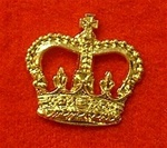 "Officers Gold Crown Clutch Pins for Service Dress 5/8th"" ( officers service dress crown )"