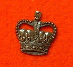"Officers bronze Crown Clutch Pins for Service Dress 5/8th"" ( officers service dress crown )"