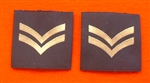 Official RAF Corporal Shoulder Slides x 2 ( RAF CPL Blue Shoulder Slides )