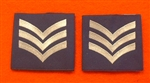 Official RAF Sergeant Shoulder Slides x 2 ( RAF SGT Blue Shoulder Slides )