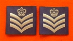 Official RAF Flight Sergeant Shoulder Slides x 2 ( RAF FS Blue Shoulder Slides )