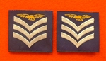 Official RAF Sergeant  Aircrew Shoulder Slides x 2 ( RAF Sergeant Aircrew Blue Shoulder Slides )