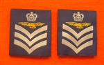 Official RAF Flight Sergeant  Aircrew Shoulder Slides x 2 ( RAF Flight SGT Aircrew Blue Shoulder Slides )