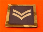 Royal Air Force Corporal MTP UBAC'S Patch Velcro Backed ( RAF CPL Multicam UBAC'S Multi Terrane Pattern Rank Badge )