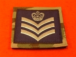 Royal Air Force Flight Sergeant MTP UBAC'S Patch Velcro Backed ( RAF FS Multicam UBAC'S Multi Terrane Pattern Rank Badge )