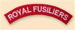 Re-Enactors Royal Fusiliers Regiment Shoulder Titles
