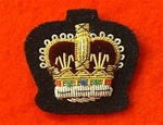 Staff Sergeants Mess Dress Crown Badge ( S/SGT Mess Dress Badge Gold on Black )