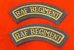 Pair of RAF Regiment Mud Guards Mess Dress Badges