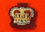 Staff Sergeants Mess Dress Crown Badge ( S/SGT Mess Dress Badge Gold on Maroon )