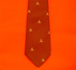 Maroon Royal Artillery Regimental Tie with Motif ( RA Tie ) British Army Tie with Motif