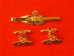 RA Cufflinks & Tie Slider Box Set ( Royal Artillery Cufflinks ) British Army Cufflinks &Tie slider.