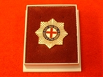 Quality Coldstream Guards Regiment Boxed Lapel Badge ( CGR Boxed Lapel Badge )