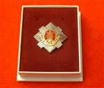 Quality The Royal Scots Boxed Lapel Badge ( TRS Boxed Lapel Badge )