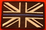 Thin Blue Line Police Union Jack Velcro Backed Badge