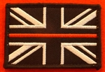 Thin Red Line Fire Brigade Union Jack Velcro Backed Badge.