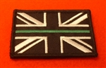 Thin Green Line Ambulance Service Union Jack Patch Velcro Backed Paramedic Patch.