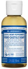 Dr Bronner Organic Peppermint Castile Liquid Soap 60ml