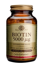 Solgar Biotin 5000 µg Vegetable Capsules 100