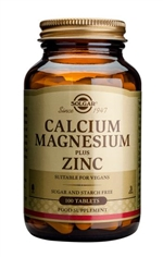 Solgar Calcium Magnesium Plus Zinc Tablets 100